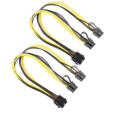 2pcs 8Pin To Graphics Video Card Double PCI-E 8Pin(6Pin+2Pin)Power Cable #N1 • 3.51£