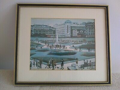 T S Lowry Print / Picture - Framed - Vintage - Matchstick Men • 9£