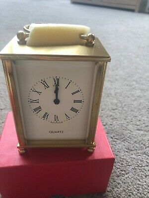 Quartz Gold Carriage Clock • 20£