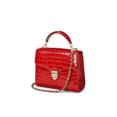 ASPINAL Midi Mayfair Bag In RED  • 335£