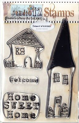 HOME SWEET HOME - A6 Clear Stamp Set - Polkadoodles / Studio12 • 5.99£