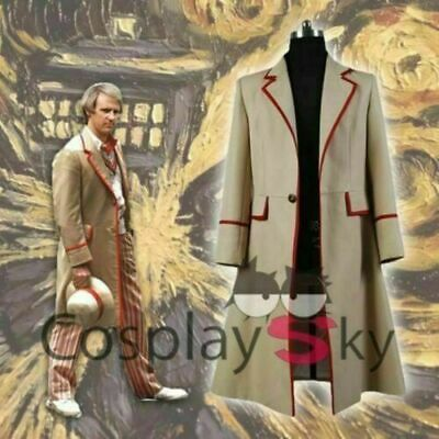 New Who Is Doctor The Fifth Dr Peter Davison Cosplay Coat Red Jacket Costume • 33.35£