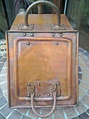 Vintage/Period Style Copper Coal Scuttle/Coal Box With Liner And Shovel. • 120£