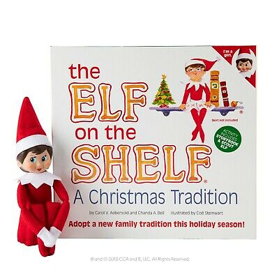 The Elf On The Shelf®    A Christmas Tradition  - Light Skin Girl Elf • 22.50£