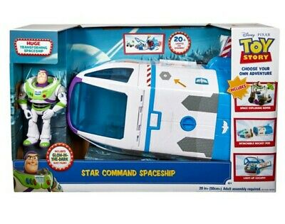 TOY STORY 4 Buzz Lightyear Star Command Spaceship Playset For Age 3 + • 59.99£