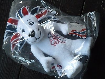 PRIDE THE LION Official TEAM GB LONDON 2012 OLYMPIC PLUSH SOFT TOY WITH TAGS • 4.49£
