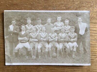 Vintage Postcard, WW1, Football Team, Leeds, Harehills Family Collection, RP • 1.20£