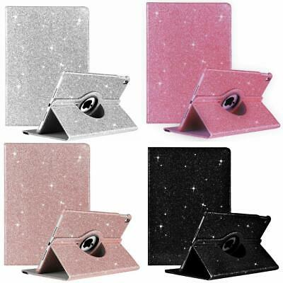 £9.98 • Buy Apple IPad Air 2  Leather Glitter Shining Bling 360 Rotating Stand Cover Case