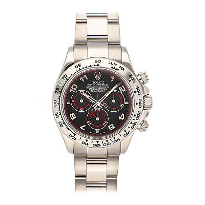 $ CDN37434.51 • Buy Rolex Cosmograph Daytona Auto 40mm White Gold Mens Oyster Bracelet Watch 116509
