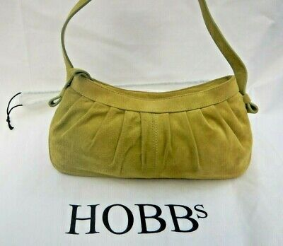 Hobbs  Green Suede Tote Bag • 30£