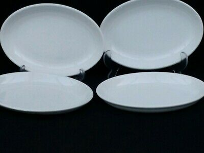 4 White Churchill Caterware Oval Side / Salad / Sweet Dish -  • 5.99£