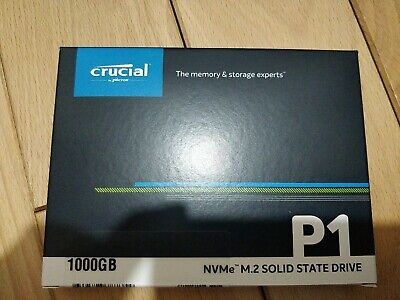 Crucial P1 SSD M.2 NVMe 1TB 2000/1700MB/s Read Write Speed !!NEW IN BOX!! • 90£