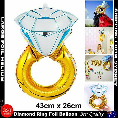 AU3.59 • Buy Diamond Ring Foil Helium Balloons Wedding Engagement Hen's Party Bride To Be DIY