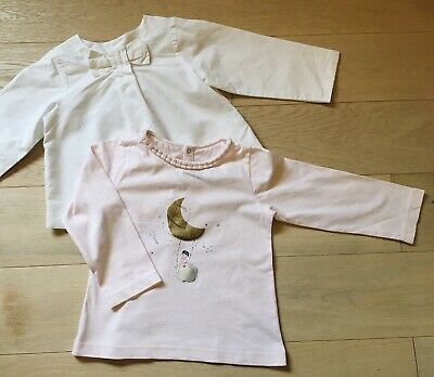 £13 • Buy 2 X Jacadi Girl Long Sleeve Blouse And Top 24 Months - Excellent Condition