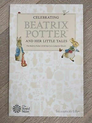 2018 Beatrix Potter 50p Fifty Pence Coin Hunt Collector Album - BRAND NEW • 13£