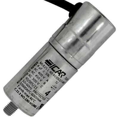 AU27.80 • Buy Starting / Motor Capacitor 4µF 450V 30x86mm Cable 45cm ICAR 4uF