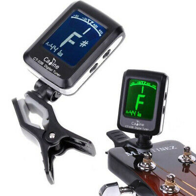 AU10.39 • Buy Chromatic Guitar Clip On Tuner Violin Ukulele Bass LCD Electronic Digital Tool
