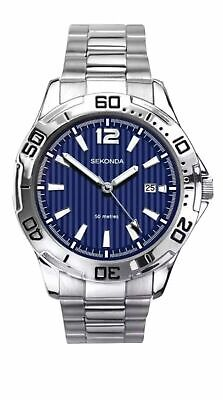 SEKONDA  NEW 1170 Men's Quartz Watch With Two Tone Dial,Bracelet Christmas Gift • 23.49£