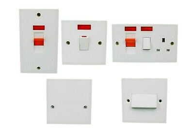 £6.99 • Buy GET 20A Switch/45A Cooker Control Unit/45A Cooker Vertical Plate DP With Neon