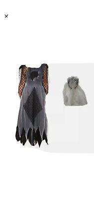 Childrens Kids Girls Zombie Corpse Bride Halloween Fancy Dress Costume Outfit • 1.90£