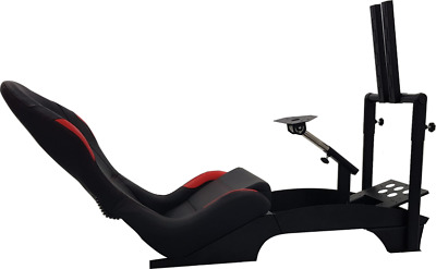 F1 Racing Chair Simulator Cockpit With TV Stand And Floor Mat - PS4 Xbox PC • 595£