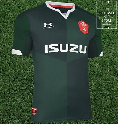 Under Armour Wales Away Rugby Shirt - UA Welsh Rugby Jersey - Mens - All Sizes • 27.99£