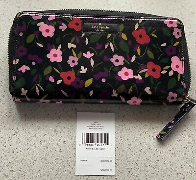 $ CDN58.91 • Buy Kate Spade Boho Floral Daycation Neda Zip Around Continental Wallet