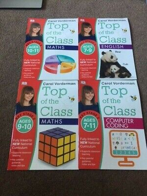 4 Carol Vorderman Exercise Books (English,Maths & Computer Coding) Key Stage 2 • 7£