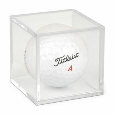 Golf Ball Display Plastic Clear Case Cube Square Stackable Holder Autograph BCW • 3.54£