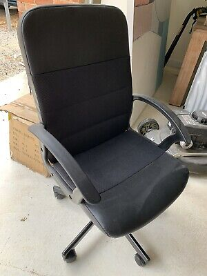 AU65 • Buy Black Office Chair Adjustable IKEA RENBERGET Base Bar Armchair - Hawthorn 3122