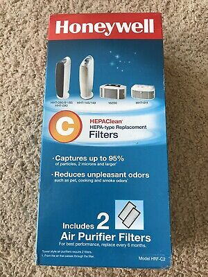 Honeywell HEPAClean C Hepa Type Replacement Air Purifier Filter HRF - C2 Pack 2 • 12.96£