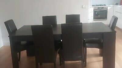 AU50 • Buy Brown Dining Table & 6 Chairs