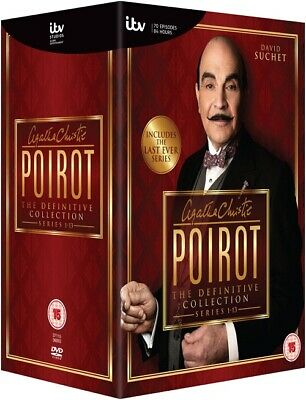 Poirot - Complete Series 1-13 Collection DVD Lot C0452 RRP 109.99 5037115360939 • 71.99£