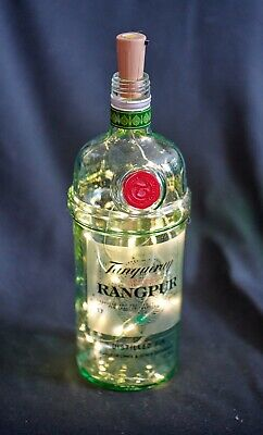 TANQUERAY RANGPUR Gin Bottle Twinkly Light Lamp Wedding Party *Dog Charity* • 5£