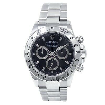 $ CDN25094.35 • Buy Rolex Daytona Stainless Steel Oyster Chronograph Auto Black Men's Watch 116520