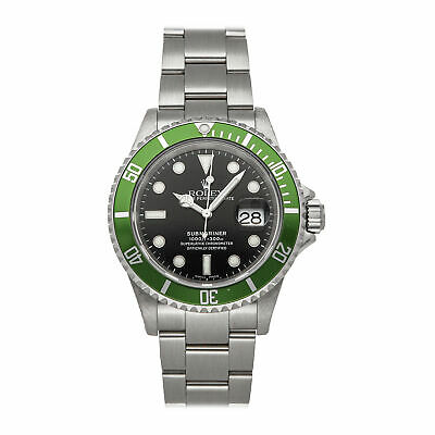 $ CDN22655.37 • Buy Rolex Submariner Kermit 40mm Mens Automatic Steel Bracelet Watch 16610LV