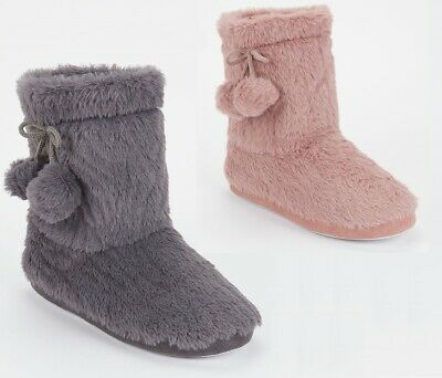 £9.89 • Buy Ladies Womens Warm Bootie Pom Pom Bootee Winter Ankle Boots Slippers Size 3-8