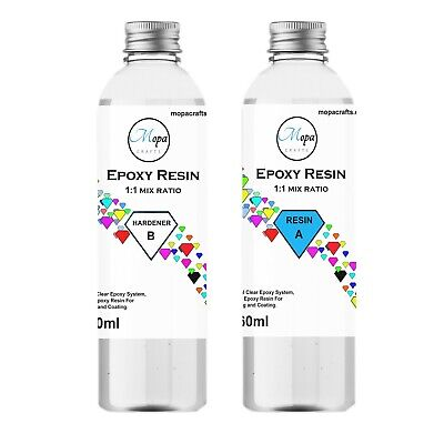 £15.99 • Buy EPOXY RESIN KIT 540g CRYSTAL CLEAR CASTING ART JEWELLERY MAKING WOOD CRAFT
