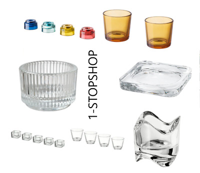 Ikea Glass Tea Light Candle Holder Wedding Christmas Party Restaurant Decoration • 4.99£
