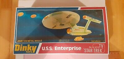 DINKY TOYS U.S.S ENTERPRISE 1976 ORIGINAL MODEL With REPLACEMENT BOX • 0.99£