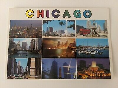$3.26 • Buy CHICAGO IL Multiple Cityscape Scenes 60's/70's - VINTAGE POSTCARD NEW -ML00