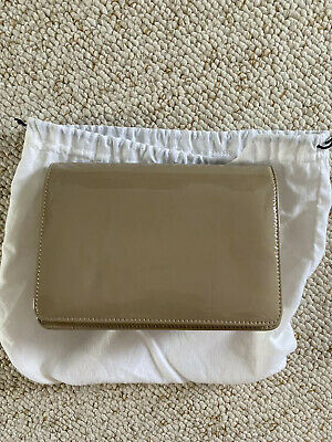 Hobbs Beige Leather Clutch Bag With Shoulder Chain And Dust Bag • 7.50£