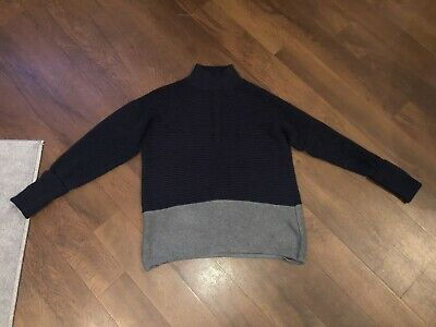 MARKS & SPENCER AUTOGRAPH Grey And Blue Jumper Size 12 • 5£