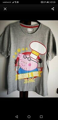 Men's Daddy Pig T-shirt Size Small  • 5£