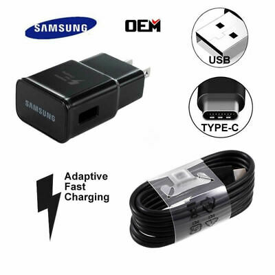 $ CDN1.97 • Buy Genuine Samsung Galaxy S10 S9 S8 Plus Note 10 8 Fast US Wall Charger+Type C Cabl