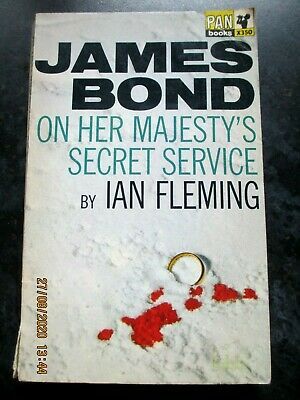 ON HER MAJESTY'S SECRET SERVICE- IAN FLEMING JAMES BOND Pan Paperback X350 1965 • 3.99£
