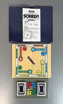 SORRY! Magnetic Travel Pocket Edition - WADDINGTONS 1990 Complete Game No Box • 19.99£