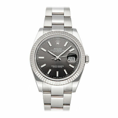 $ CDN13967.47 • Buy Rolex Datejust Auto 41mm Steel White Gold Mens Oyster Bracelet Watch 126334