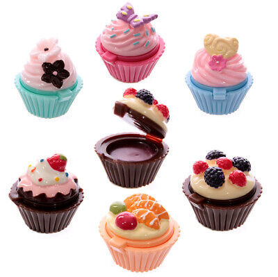 £4.99 • Buy Women Cute Cupcake Lipbalm Lipgloss Chapped Dry Lips Daily Care Party Fillers