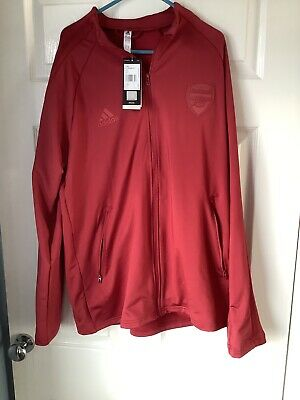 Brand New With Tags Arsenal FC 2020/21 Adidas Anthem Jacket Red Large • 15£